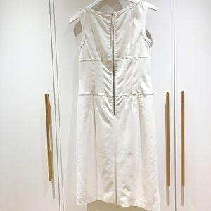 Hugo Boss White exposed zipper dress